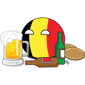 It's a Belgium NationBall (a.k.a. Countryball or Polandball) with beer en waffles!