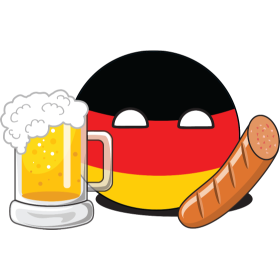 It's a German NationBall (a.k.a. Countryball or Polandball) with beer ünd bratwurst!
