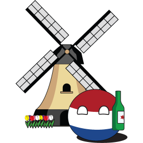 It's a Dutch NationBall (a.k.a. Countryball or Polandball) with a beer!